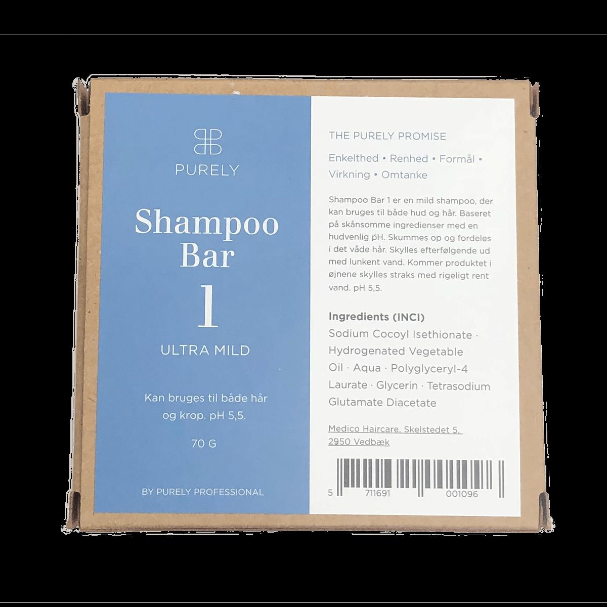 Shampoo bar 1 - ultramild bæredygtig